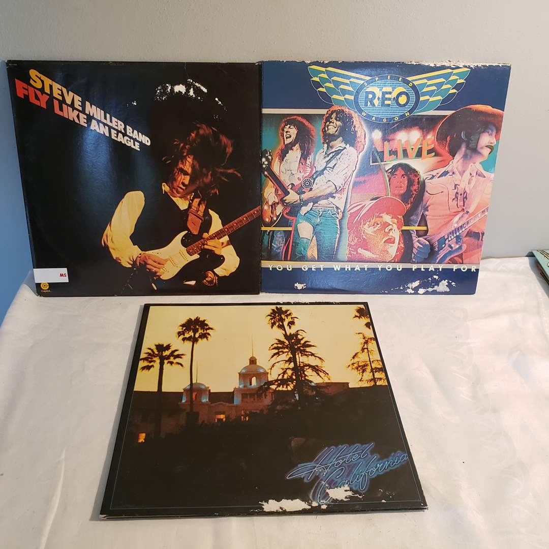 Lot#88 - 3 Awesome Albums * Steve Miller * The Eagles * REO Speedwagon (main image)