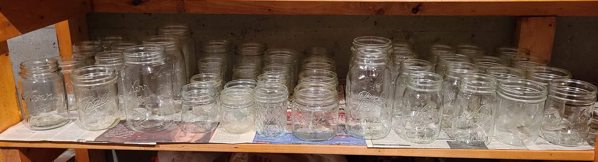 Lot#118 - Mixed Lot of 40+ Vintage Ball and Kerr Canning Jars (main image)
