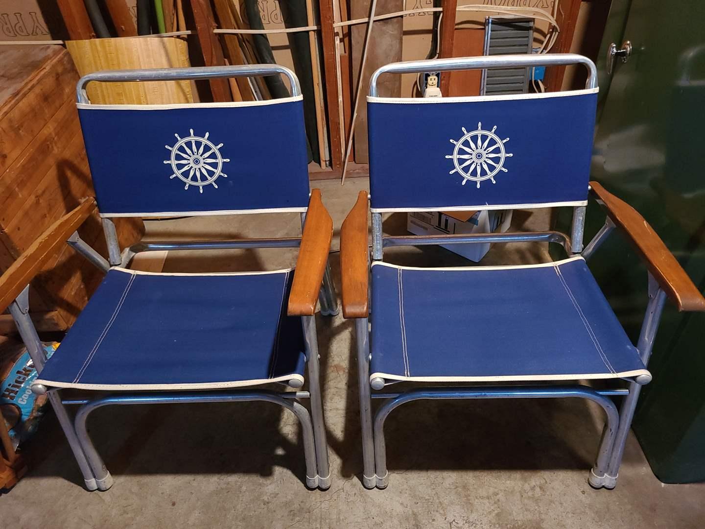 Lot#127 - Nautical Folding Deck Chairs (main image)