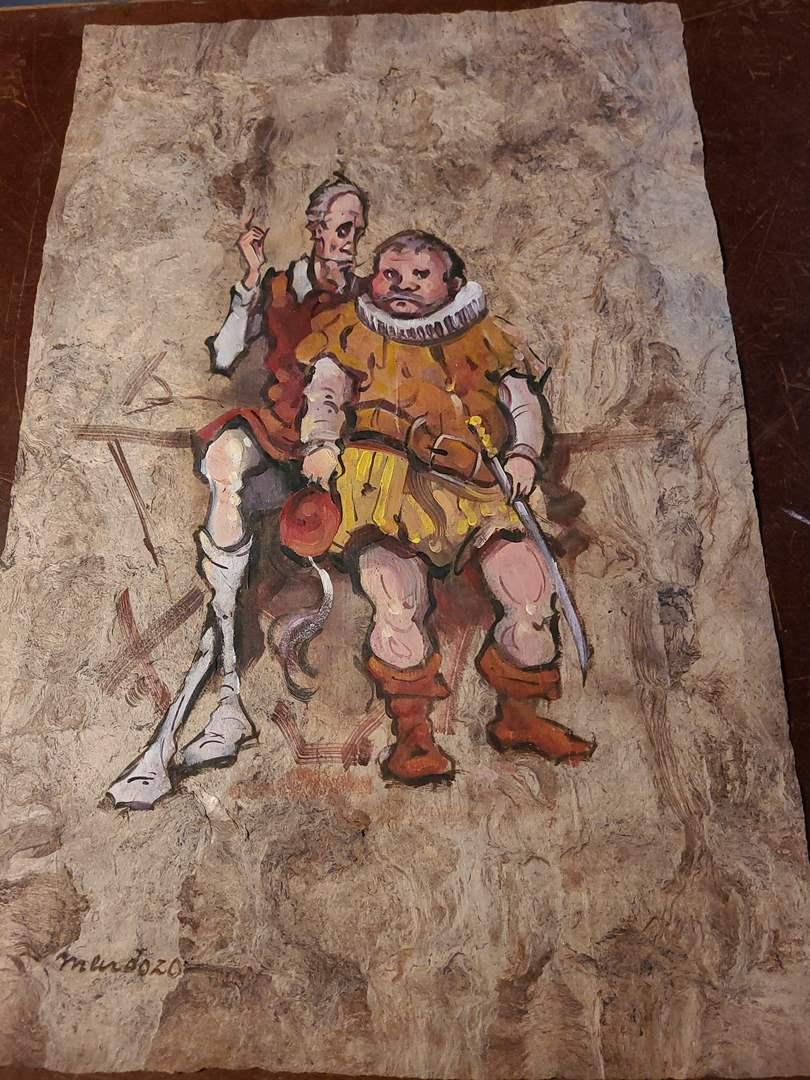 Lot#129 - Mendoza Painting Unframed on Bark Paper  (main image)