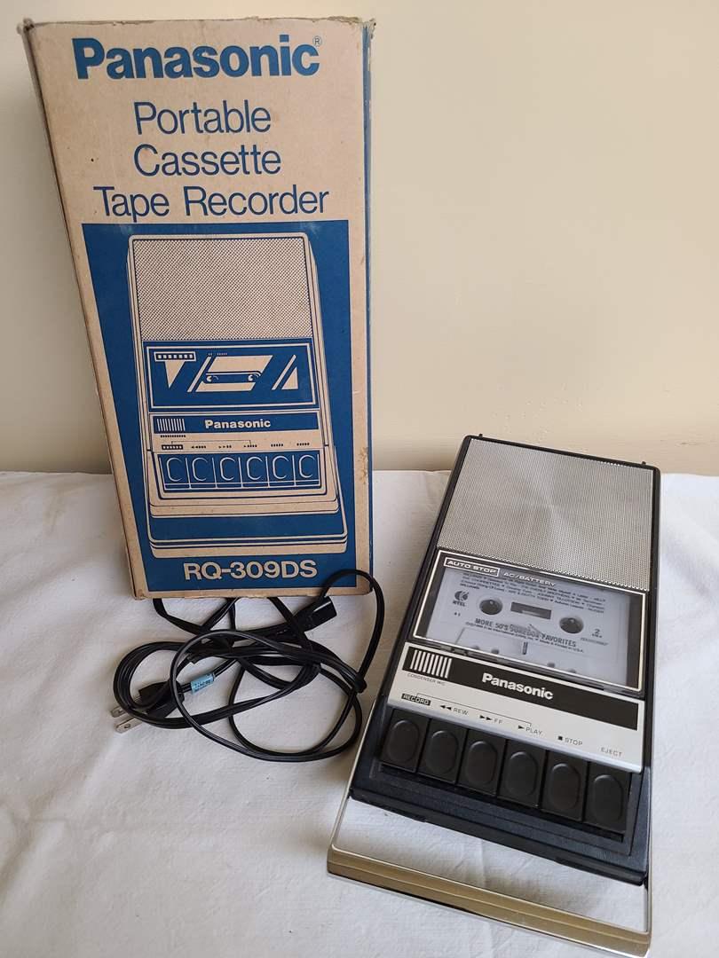Lot#145 - Panasonic Portable Cassette Tape Recorder (main image)