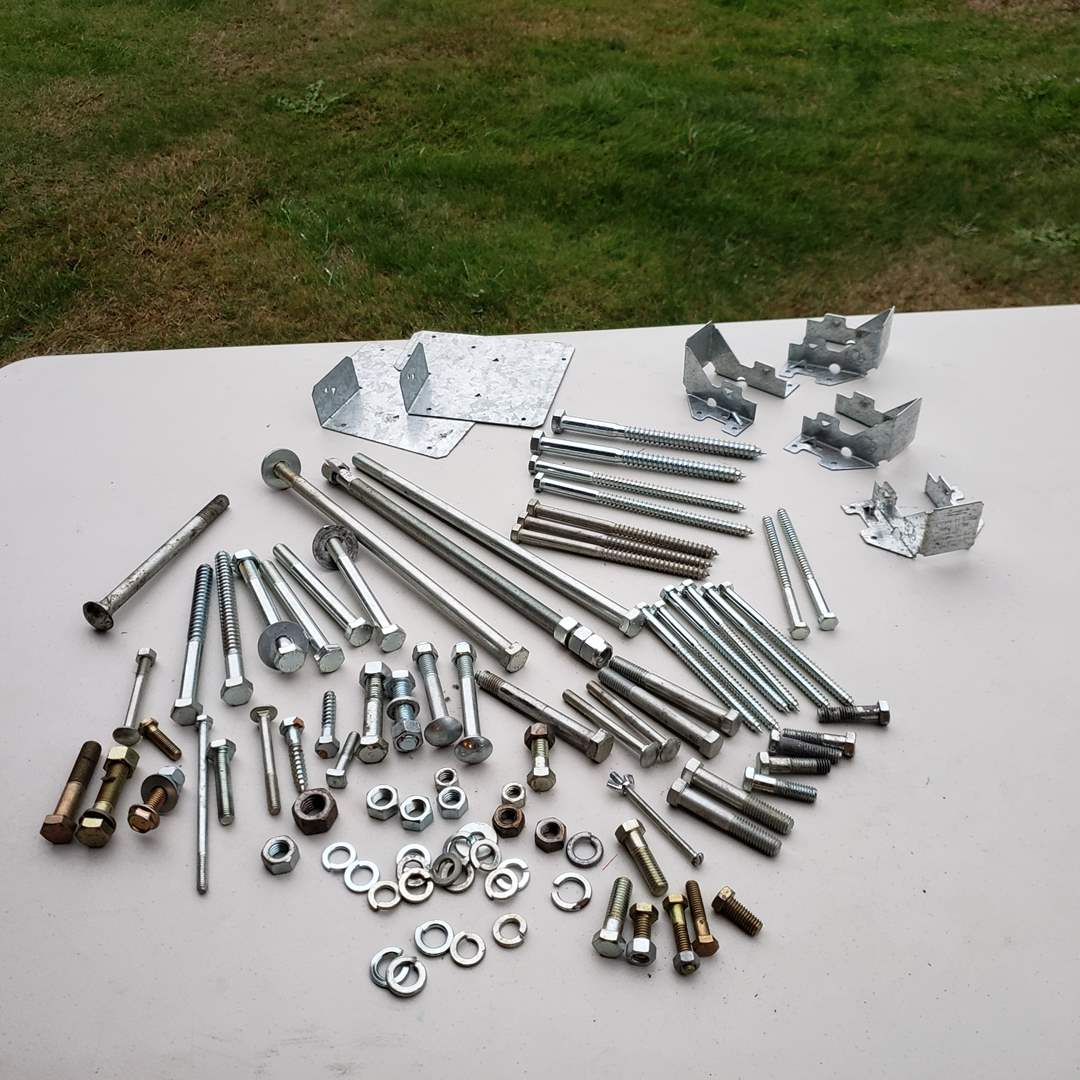Lot#168 - Lag Bolt & Screw Lot with other Misc Pieces (main image)