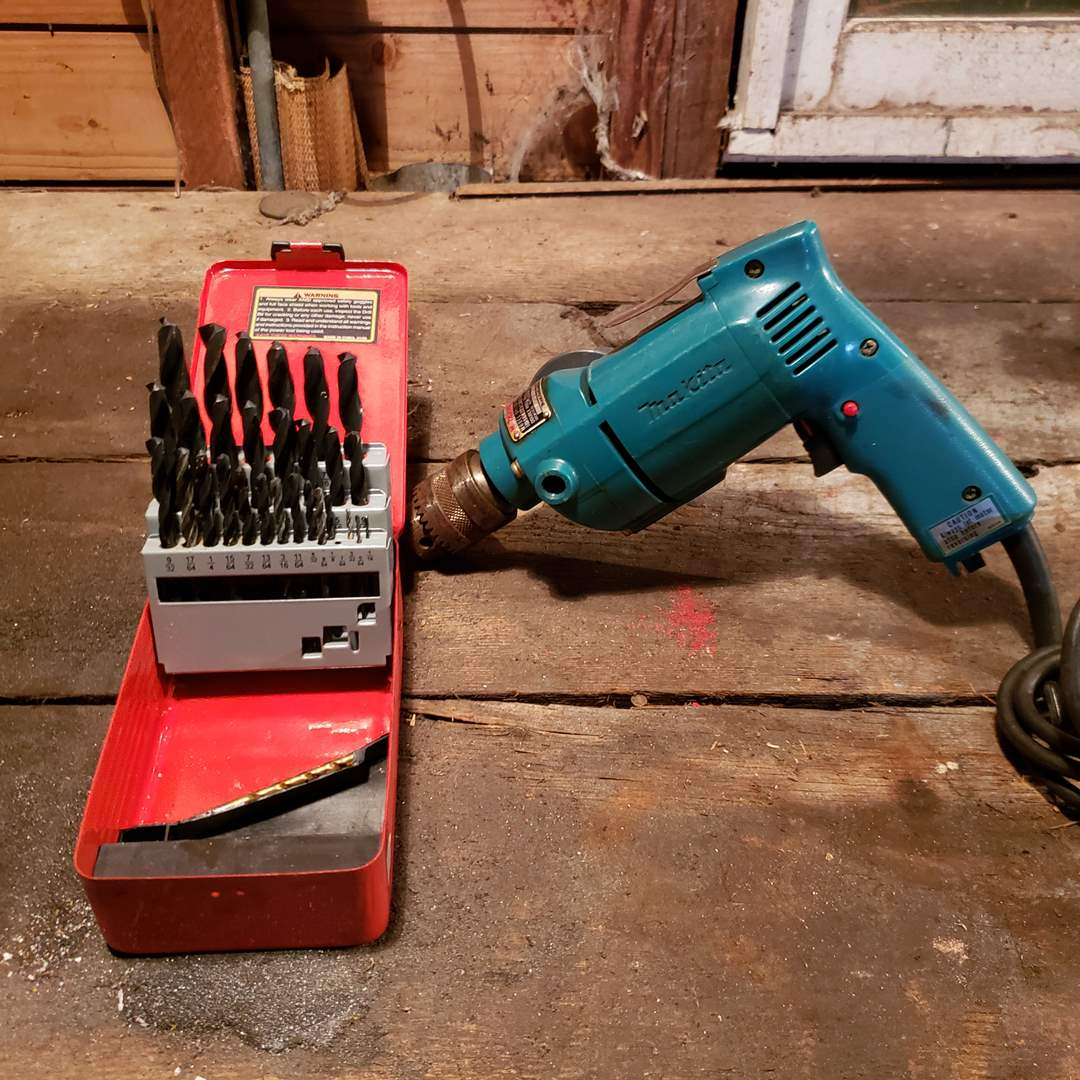 Lot#171 - Makita Electric 13mm Drill * Drill Master Bit Set * Tool (main image)