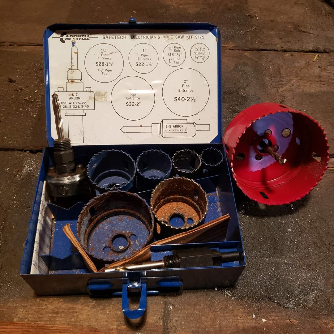 "Lot#172 - Vintage Capewell Hole Saw Kit S175 * Extra 3.5"" Blade (main image)"