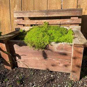 Auction Thumbnail for: Lot #13 - Little Wood Garden Chair with Mosses