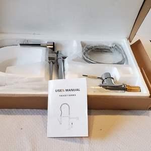 Auction Thumbnail for: Lot #179 - New Chrome Farm Kitchen Faucet, American Standard Parts.