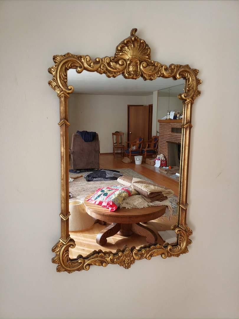 """Lot # 89 - STUNNING Vintage Gilded Rococo Hanging Mirror 20""""x 38"""" * Excellent Condition * GORGEOUS!!! (main image)"""