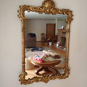 """Lot # 89 - STUNNING Vintage Gilded Rococo Hanging Mirror 20""""x 38"""" * Excellent Condition * GORGEOUS!!!"""