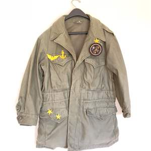 Lot # 83 - Vintage Military Jacket Size Large * Vintage Military Patches