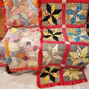 Lot # 118 - Two Vintage Quilts * Fun and Colorful Pieces