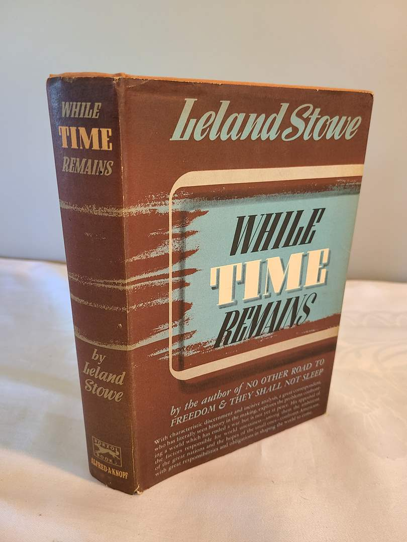 Lot # 130 - While Time Remains 1946 FIRST EDITION Book (main image)