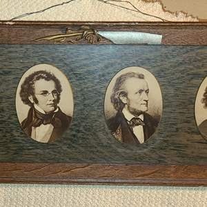"""Lot # 157 - Vintage Famous Composers Framed with Glass Wall Hanging * 28"""" x 8"""""""