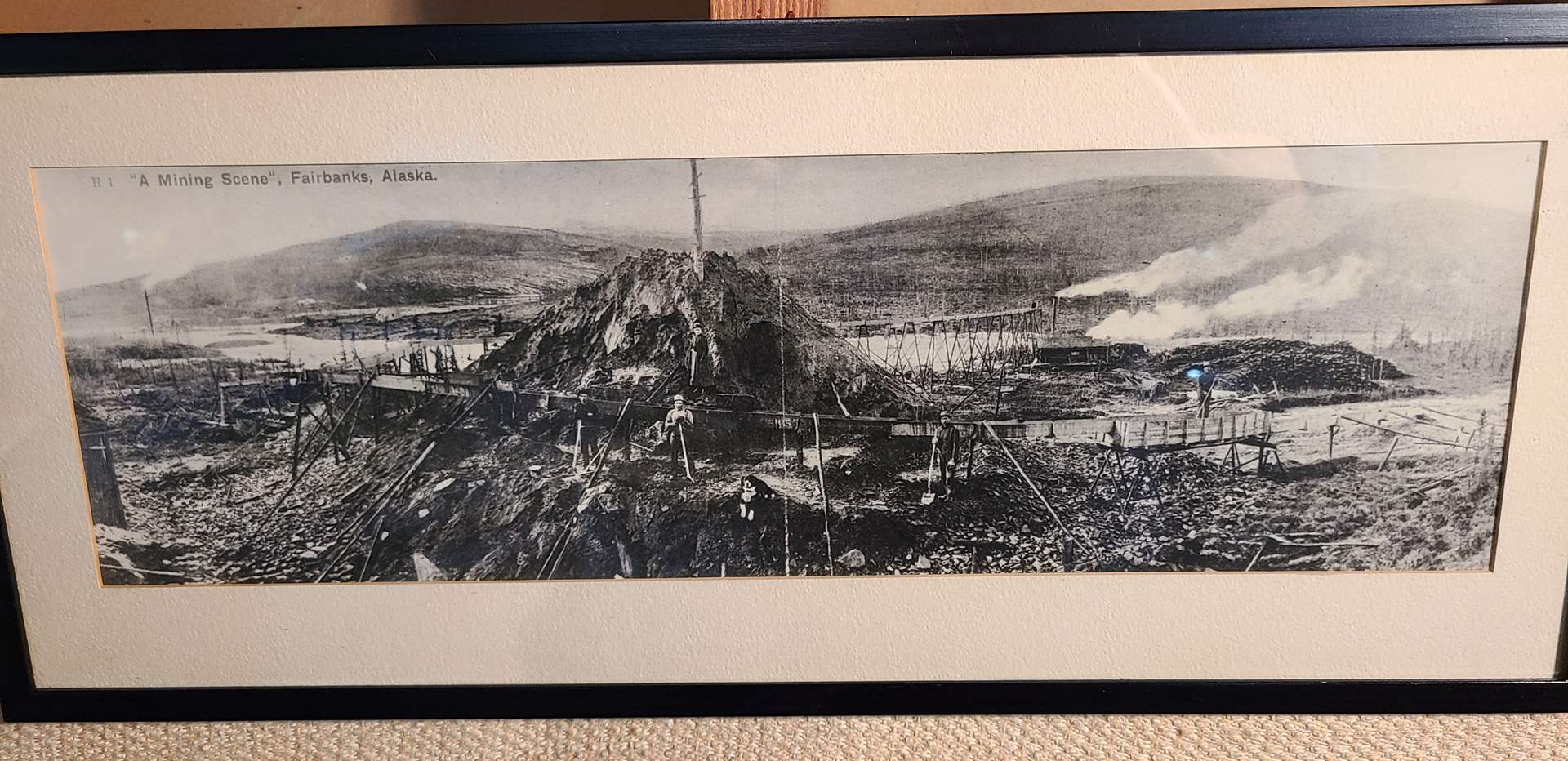 "Lot # 158 - ""A Mining Scene"" Fairbanks Alaska Early 1900's (main image)"