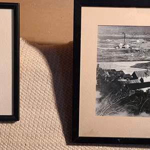 Lot # 159 - 2 Mining Scenes * Discovery Ottercreek 1914 * Iditarod Alaska early 1900's * Framed with Glass *
