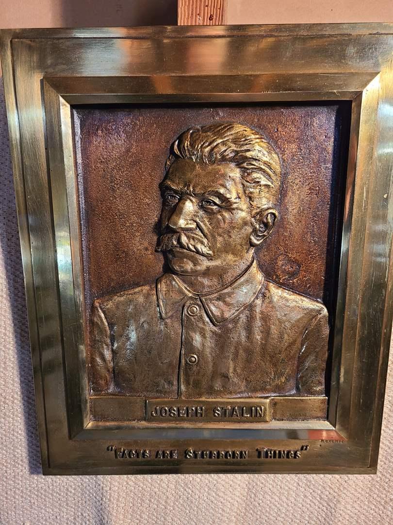 Lot # 160 - Vintage Joseph Stalin Soviet Russian Cast Iron Mold or Bronze? (main image)