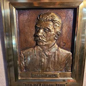 Lot # 160 - Vintage Joseph Stalin Soviet Russian Cast Iron Mold or Bronze?
