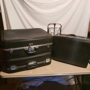 Lot # 145 - Vintage Citation Luggage with Combination Locks * Small Luggage Cart