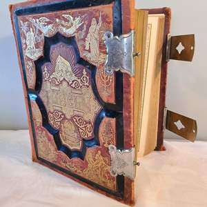 Lot # 166 - Very Large Leather Bound Swedish Bibeln Bible 1889 Copyright