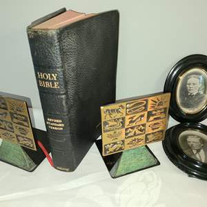 Lot # 167 - Holy Bible Revised Standard Version 1953 in Excellent Condition * Made in Israel by Dayagi Book Ends