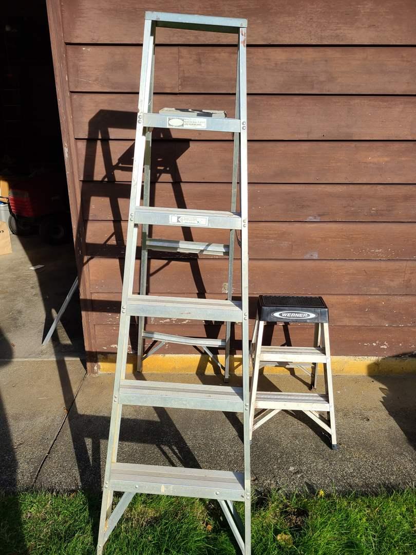 Lot # 25 - Model 936 Keller Household Ladder * Small Werner Ladder (main image)