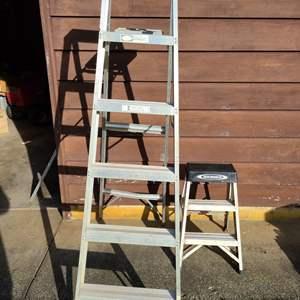 Lot # 25 - Model 936 Keller Household Ladder * Small Werner Ladder