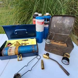 Lot # 12 - Tools * Welding Tools * Vintage metal box