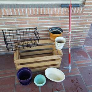 Lot # 30 - Gardening * Container Planting * Haeger * Brush * Weed Tool Weasel Weed Popper