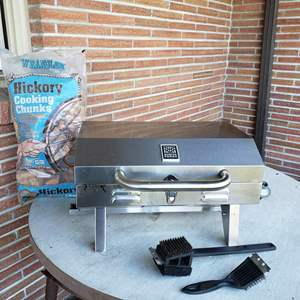 Lot # 31 - Master Forge BBQ * New Bag of Hickory Chips * Great Size * In Very Good Condition