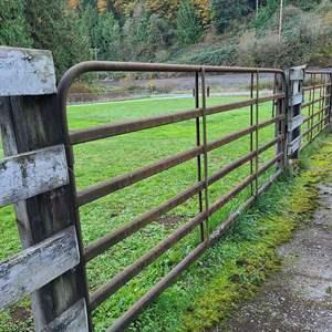 Lot # 54 - 12' Rusty Farm Gate Section