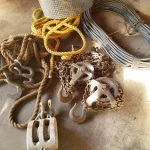Lot # 64 - Tool * Vintage Lifting Hardware * Fencing * Wire * Metal Hooks