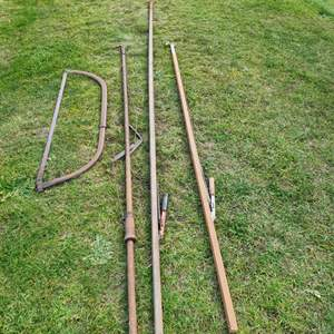 Lot # 66 - Tool * 8' and 11' Loppers * Hand Saw