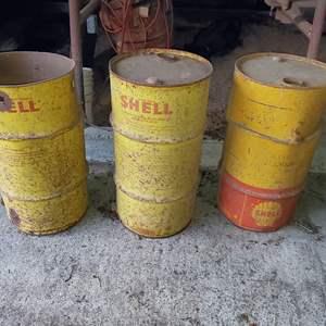 Lot # 75 - Metal SHELL Barrels Drums