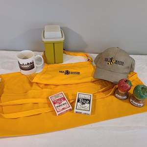 Lot # 98 - Bee Haven Honey Logo Lot! * BEE Cards / Pinochle * Tupperware Container