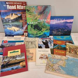 Lot # 99 - Earth from Space Large Coffee Table Book ($50 MSRP) * Other Travel Books & Maps