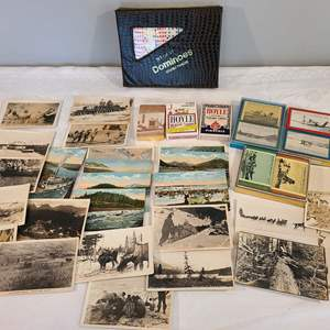 Lot # 103 - Vintage YUBA Playing Cards * Old Postcards & Pictures * Dominoes