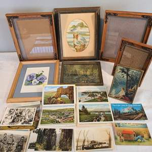 Lot # 104 - Wonderful Frames 8x10 & 5x7 * Old pictures and postcards