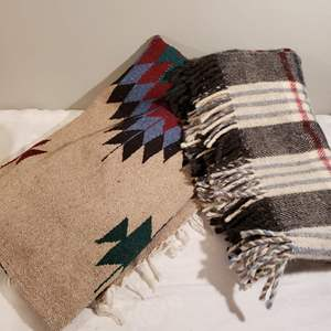Lot # 117 - Vintage Mexican Gorgeous Blanket *  Vintage Wool Blanket in Excellent Condition