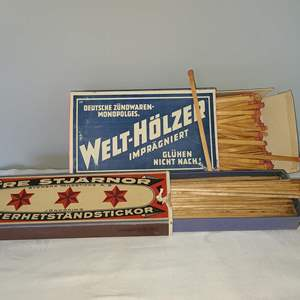 Lot # 123 - A Rare Find - Vintage Matches in Original Boxes almost full