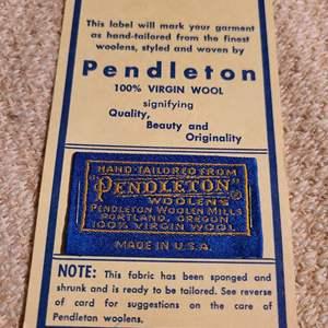Lot # 164 - Vintage Pendleton Label