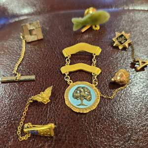 Lot # 173 - * Jewelry * Pins including some 10 KT Gold
