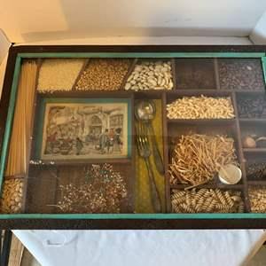 "Auction Thumbnail for: Lot #61 - Vintage Shadowbox Kitchen Decor 24"" x 16"""