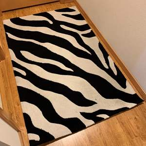 Auction Thumbnail for: Lot #6 - Fun Zebra Print Rug Runner 31x61