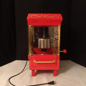 Auction Thumbnail for: Lot #40 - Old Fashioned Movie Time Popcorn Machine Model KPM-508