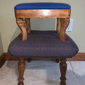 Auction Thumbnail for: Lot #147 - Two Small Upholstered Footstools