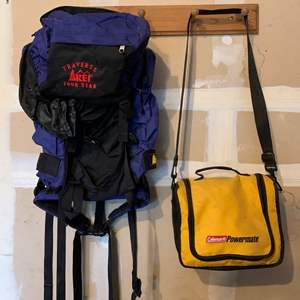 Auction Thumbnail for: Lot #89 - Coleman Powermate Flashlight/Lantern and REI Backpack