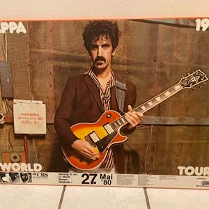 "Auction Thumbnail for: Lot #44 - Genuine Colorplak Zappa 1989 World Tour 23.75"" x 33"""