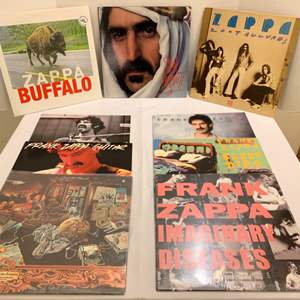 Auction Thumbnail for: Lot #118 - Frank Zappa Vinyl Lp's - Zoot Allures - Sleep Dirt - Frank Zappa Guitar - Buffalo