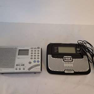 Auction Thumbnail for: Lot #197 - Sony Synthesized Receiver Model ICF-SW7600GR and Radio Shack NOAA Public Alert Weather Snooze
