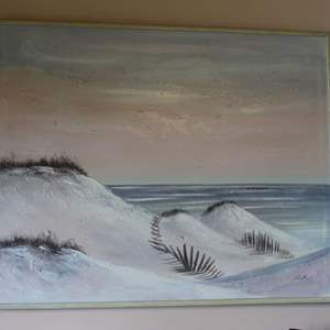 Lot #5 - Signed Ocean Dune Painting, Measures 51x41