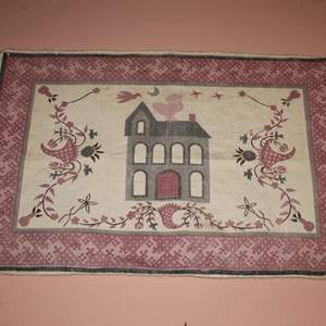 Lot #7 - Rug Wall Hanging with Fringe, Measures 44x28